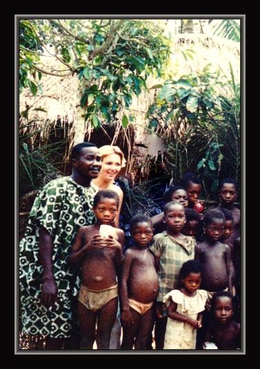 Enfants du village avec Kofi