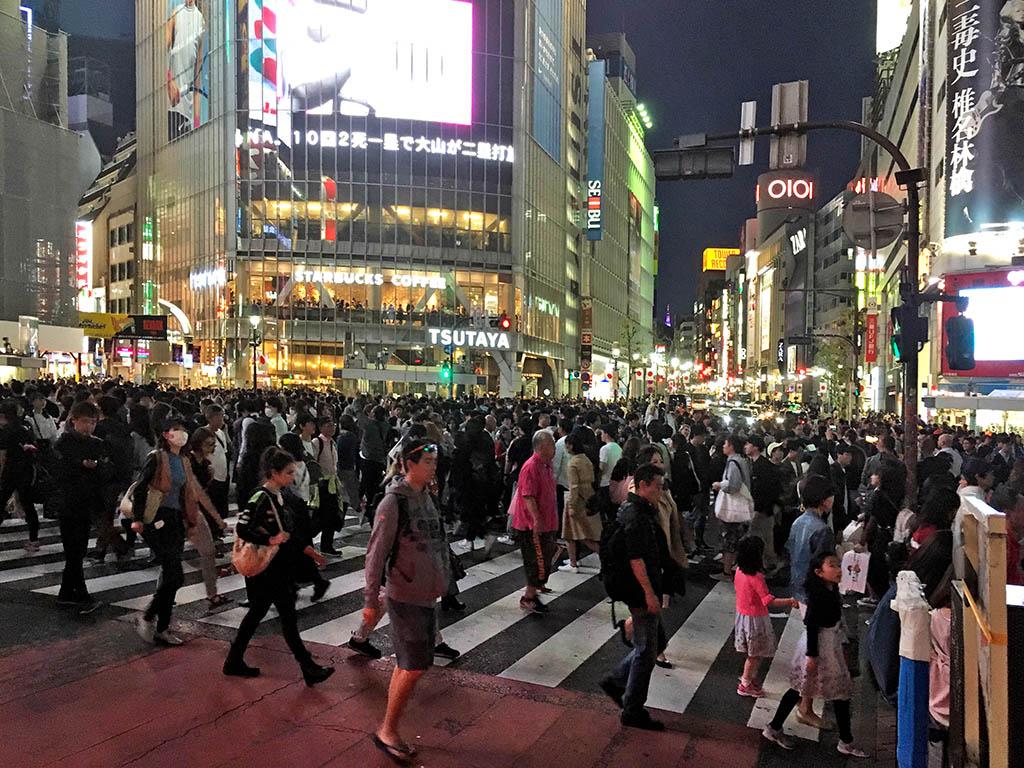 Shibuya et ses célèbres passage piétons