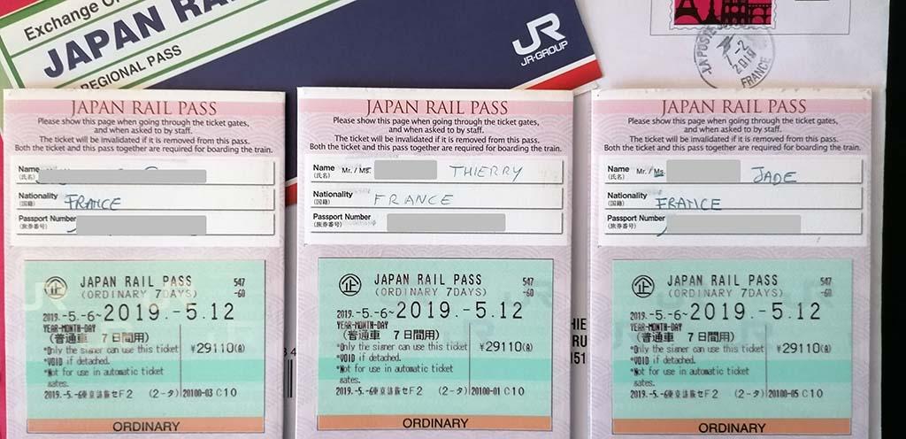Japan Rail Pass, JRP, modèles